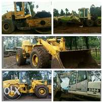 Excavators2,Motor Grader3,Roller2 and 1Shovel all at 25Million