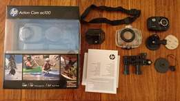 Hp ac100 Action Camera with accessories