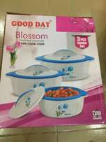 Good Day Blossom Jumbo Insulated Set of Casserole BRAND NEW