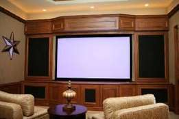 Wall Projection Screen - 100inch (87x49 inch viewing area)PVC Fabric