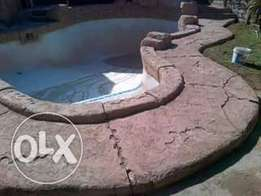 Rock art and swimming pools