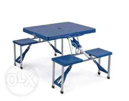 picnic portable table & chairs