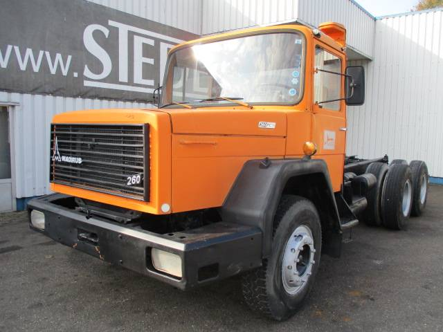Iveco Magirus 260PC26 , 6X4 , Chassis - 1978