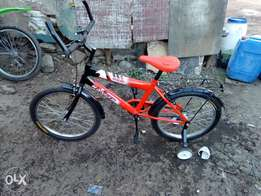 Bmx children bicycle with sterbelizers