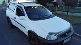 2001 Opel Corsa 1.6i Bakkie In good Cond