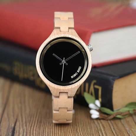 3a9933c704621f Jasny, drewniany zegarek w drewnianym pudełku - Warszawa - Zegarek jest z  prawdziwego drewna,