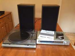Technics Vinyl Record Player w/ JVC Amplifier and Tannoy Speakers - Al