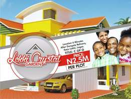 Plot of land at lekki crystal garden with C of O
