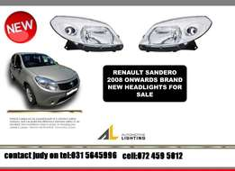 Renault sandero 2008 onwards new headlight clear type for sale R1450