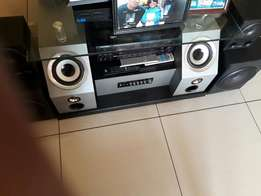 550 tv stand with built in speakers