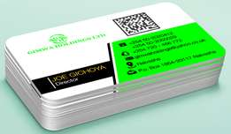 Professional business Cards Design (Glossy and mate laminated)