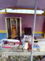 Shawarma machine grill and double burner toaster for sale