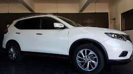 nissan X TRAIL white with very low mileage for sale now.