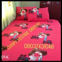 4x6, 6×6 kids bedsheets with 2 pillowcases