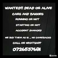 Used vehicles wanted for cash