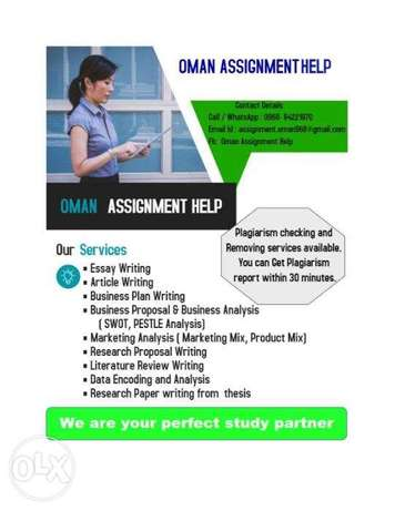 Assignments and project writing services available