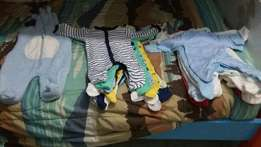 Assorted baby boy clothes (0 to 6 months)
