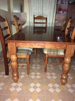 6seater dining table. hardwood