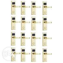 Door Lock With RFID Card Access Control - Gold - 16 Set