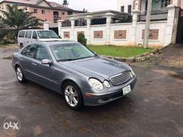 Few months used 2006/2007 Mercedes Benz E350 on Sky Blue.