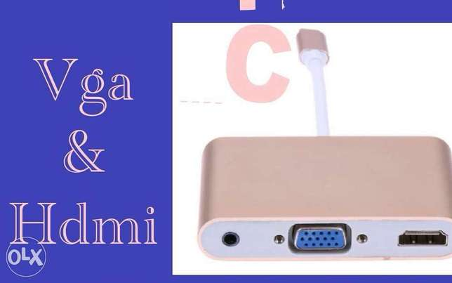 Type c to vga and hdmi