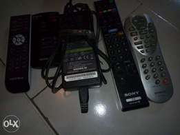 remote control and Sony adapter