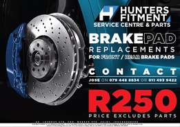 Brake Pad Replacements SPECIAL on Labor only R250