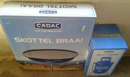 Brand New Skottel Braai With 3kg Gas Cylinder