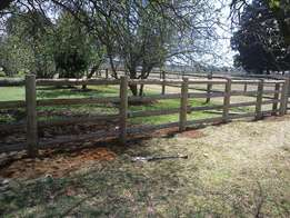 Equine Post and Rail fencing