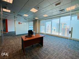 228sqm fully fitted glass partitioned office in West bay