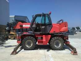 2005 Manitou MRT1742 Rotational Telehandler with forks, man cage