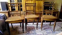 Antique chairs - original chairs from the Matjiesfontein diner