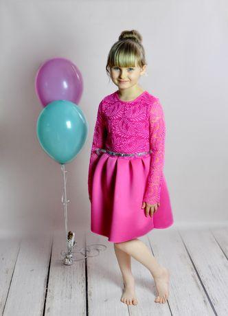 acb0c59133 98 Rękawek 116 Elegancka 128 Sukienka 140 Różowa Koronka 146 Wizytowa  Bielsko-Biała - image