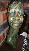 Vintage Serpentine African Sculpture