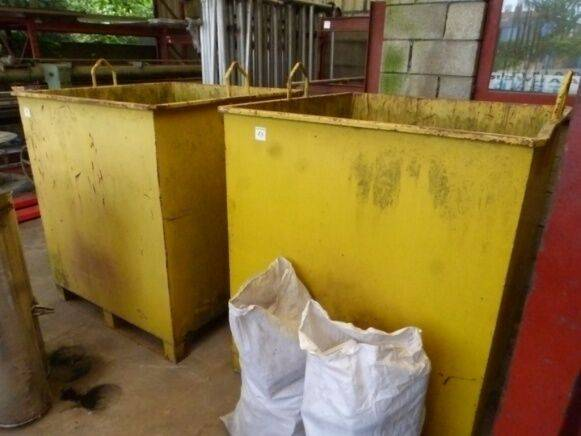 Sale 2 waste bins waste container for  by auction