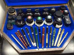 Collection Fountain Pens and ink
