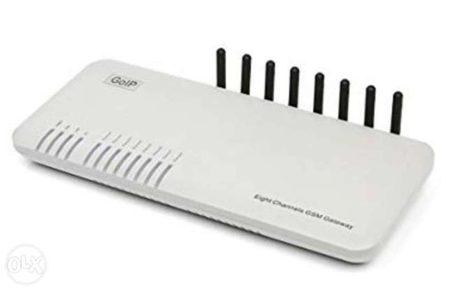 GOIP-8 GSM VoIP Gateway with External Antenna 8 GSM Channels, up to 8