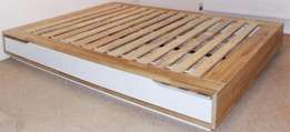 IKEA Mandal Bed Frame Queen Size with Storage Drawers
