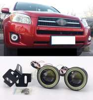 Toyota Rav4 Aftermarket LED fog lamps with Angel eye rings: 9500 ksh