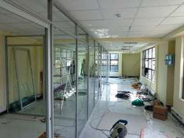 Aluminum & Glass Office Partitioning