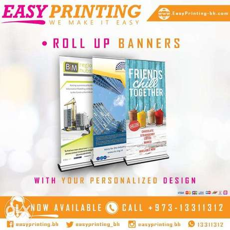 Roll Up Banner Printing - With Free Delivery Service!