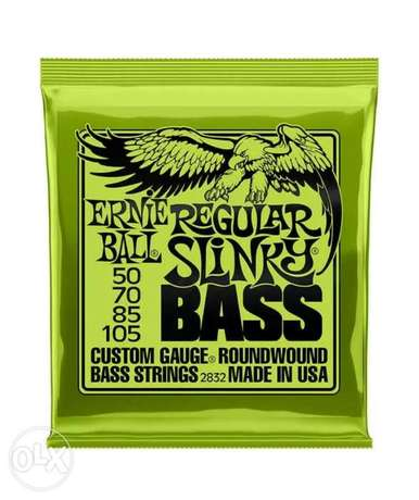 Ernie Ball Regular Slinky Electric Bass Guitar Strings 50-105 Set.