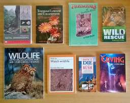 8 Kruger National Park and other books. Price R250 for the lot.