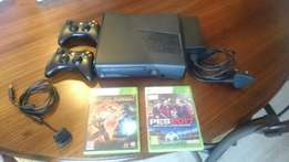 320GB Xbox 360, two controllers and 2 games