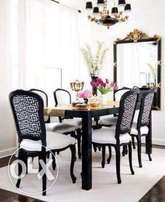 A custom made 6 seater dinning table in this design made on order