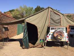 2012 Venter off road 4 x 4 trailer with roof top tent