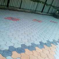 Coloured paving cabro