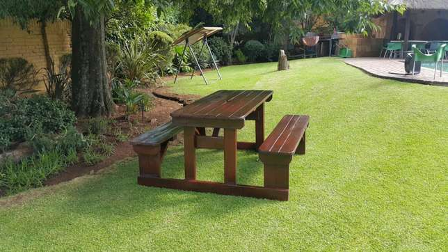 Quality wooden patio pub shebeen benches Roodepoort - image 1