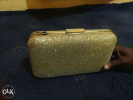 Golden Clutch Purse/Bag at very affordable price