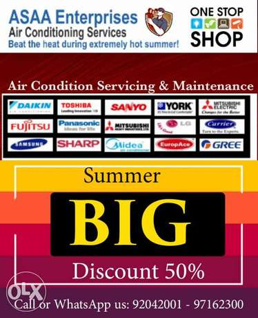 Summer Special Offer 50% Discount on Air conditioning servicing